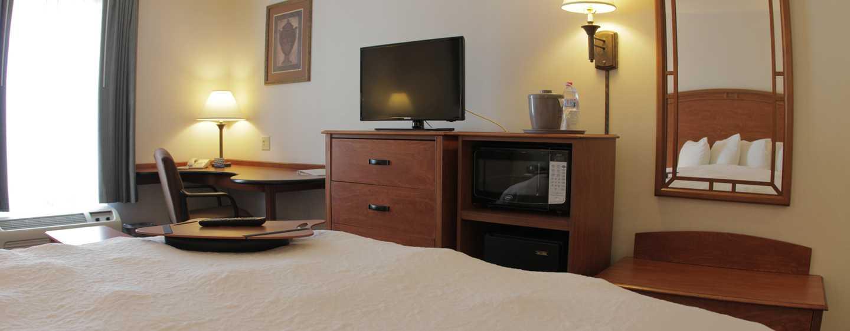Hotel Hampton Inn by Hilton Torreon-Airport Galerias, Coahuila, México - Habitación con cama King, televisor y escritorio