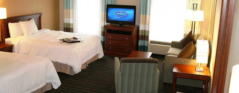 Hôtel Hampton Inn & Suites by Hilton Toronto Airport, Ontario, Canada - Suite Studio avec deux grands lits
