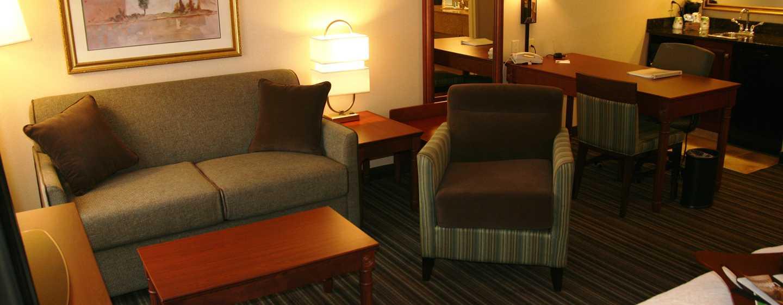 Hôtel Hampton Inn & Suites by Hilton Toronto Airport, Ontario, Canada - Salon d'une suite Studio avec deux grands lits
