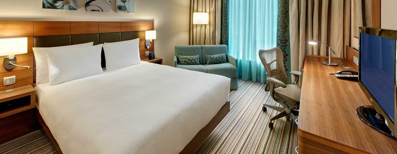 Hôtel Hilton Garden Inn Frankfurt Airport, Allemagne - Chambre avec grand lit