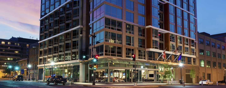 Hilton Garden Inn Washington DC/Georgetown hotel, EUA - Exterior do hotel