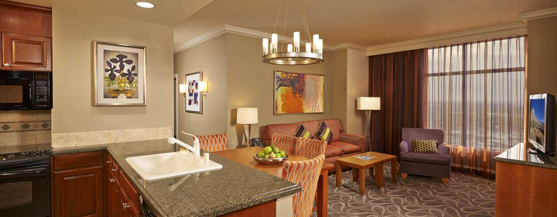 Mejores hoteles de las vegas hgv las vegas boulevard for Sala de estar y cocina