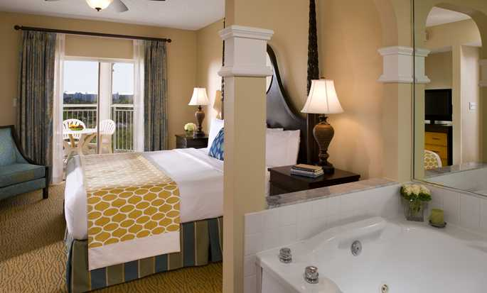 Hilton Grand Vacations at SeaWorld hotel - Suite bedroom