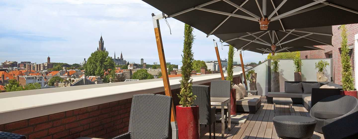 Hilton The Hague, Nederland - Terras Executive lounge