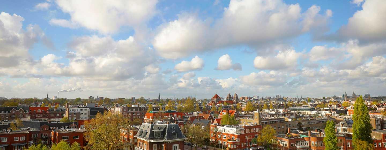Hilton Amsterdam hotel, Nederland - Uitzicht