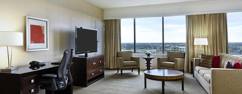 Hilton Atlanta Hotel, Georgia, USA. – Deluxe Studio mit King-Size-Bett