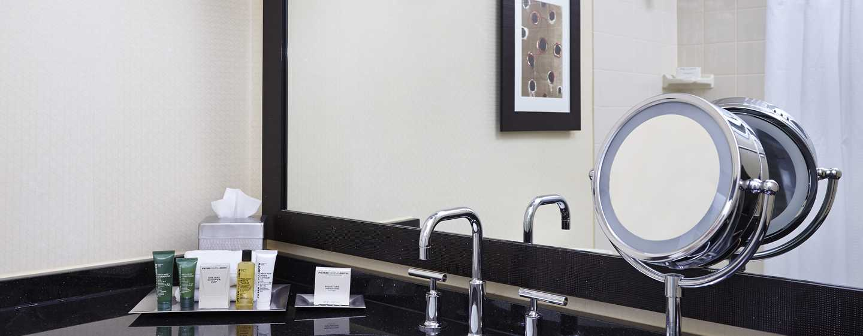 Hilton Atlanta Hotel, Georgia, USA. – Badezimmer auf dem Executive Floor