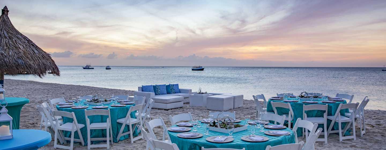 Hilton Aruba Caribbean Resort & Casino hotel, Aruba - Strandbanketopstelling
