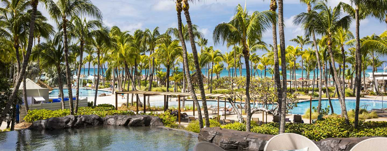 Hilton Aruba Caribbean Resort & Casino hotel, Aruba - Strand, zwembad en lagunes