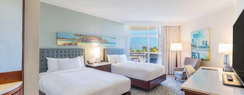 Hilton Aruba Caribbean Resort & Casino hotel, Aruba - Kamer met tweepersoonsbedden