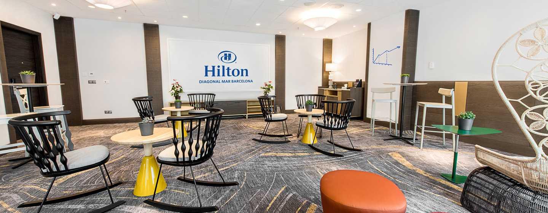 Hotel Hilton Diagonal Mar Barcelona, España - Sala de reuniones con montaje flexible