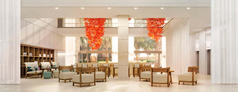 Hotel Hilton Barcelona, España - El lobby bar
