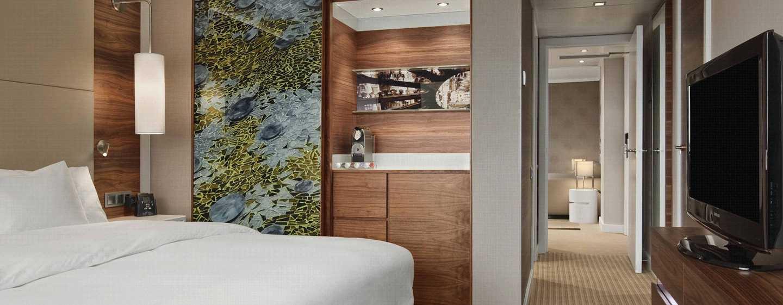 Hotel Hilton Barcelona, España - Habitación de la suite Junior