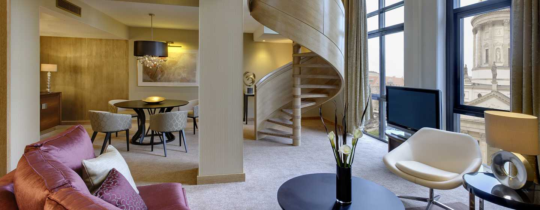 Hilton Berlin Hotel, Deutschland – Eck-Suite – Beispiel