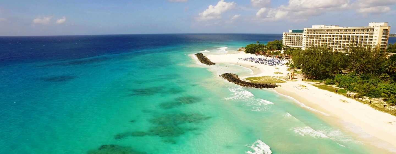 Hôtel Hilton Barbados Resort, La Barbade - Vue aérienne de l'extérieur de l'hôtel