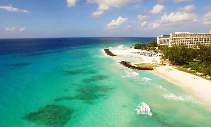 Hilton Barbados Resort, Barbados – Vista aérea da praia e do hotel