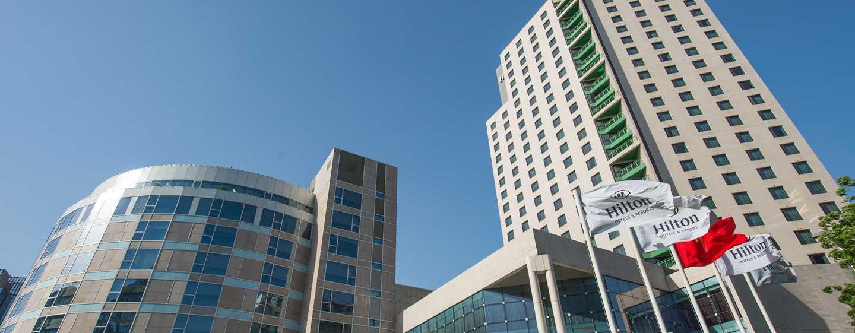 Hilton Beijing, China – Außenbereich des Hotels, Gesamtansicht