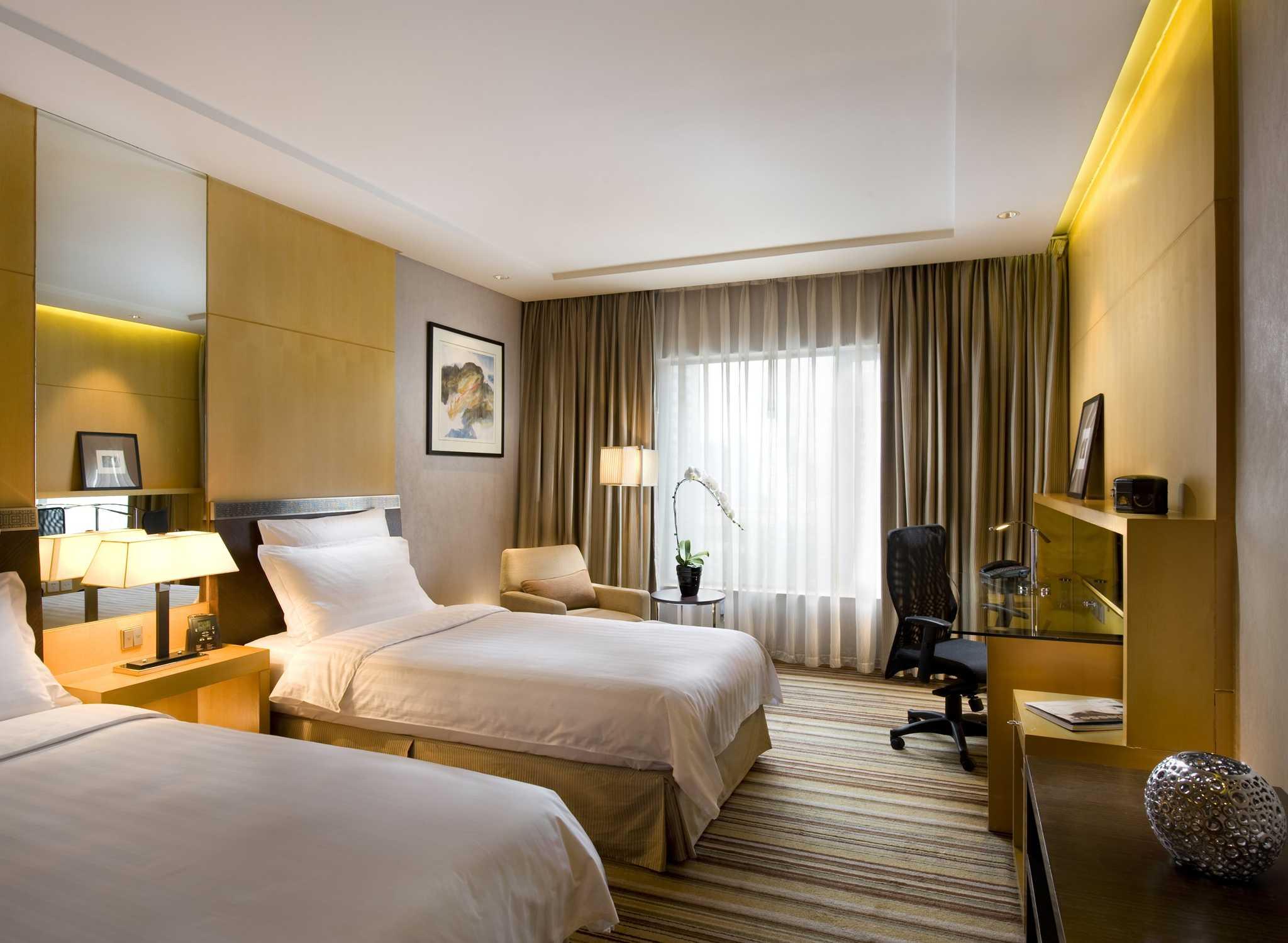 Hilton beijing china deluxe zweibettzimmer