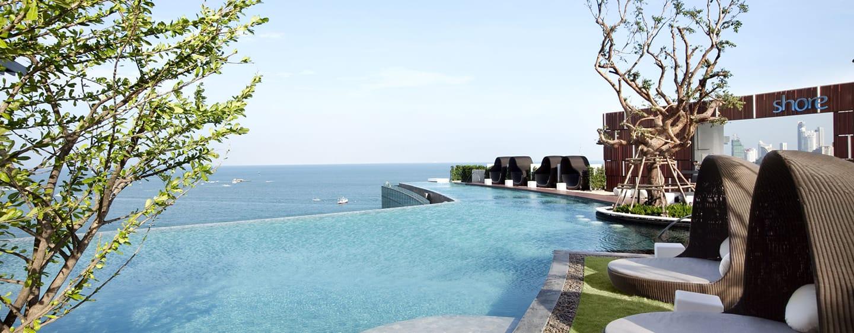 Hotel Hilton Pattaya, Thailand - Kolam Renang Tak Bertepi