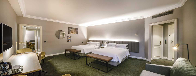 Hôtel Hilton Brussels Grand Place, Belgique - Chambre familiale avec deux grands lits