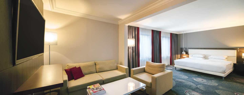 Hôtel Hilton Brussels Grand Place, Belgique - Chambre familiale avec très grand lit