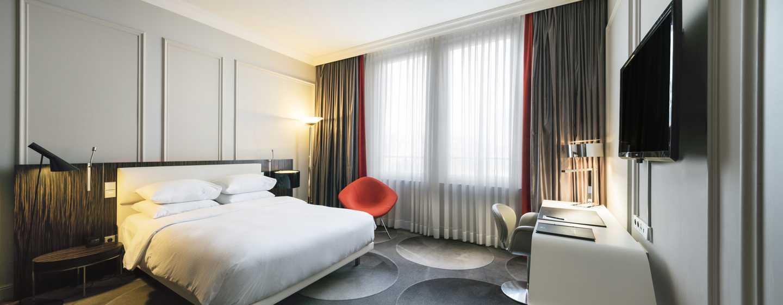 Hôtel Hilton Brussels Grand Place, Belgique - Chambre avec grand lit