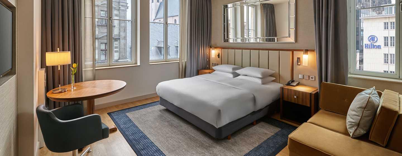 Hilton Cologne, Duitsland - Hilton King kamer met uitzicht