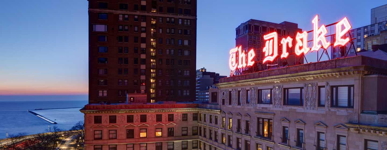 The Drake Hotel, Chicago, EUA - Exterior do hotel