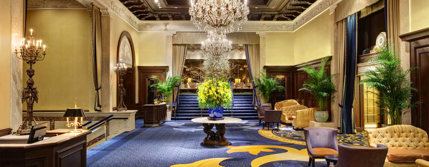 The Drake Hotel, Chicago, EUA - Lobby do hotel