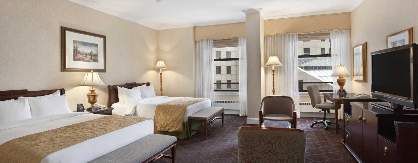 The Drake Hotel, Chicago, EUA - Quarto com cama dupla
