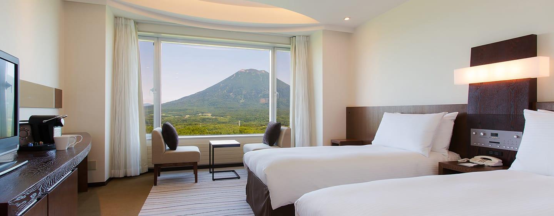 โรงแรม Hilton Niseko Village ญี่ปุ่น - ห้องทวินพรีเมี่ยมดีลักซ์สำหรับครอบครัว วิวภูเขา Yotei