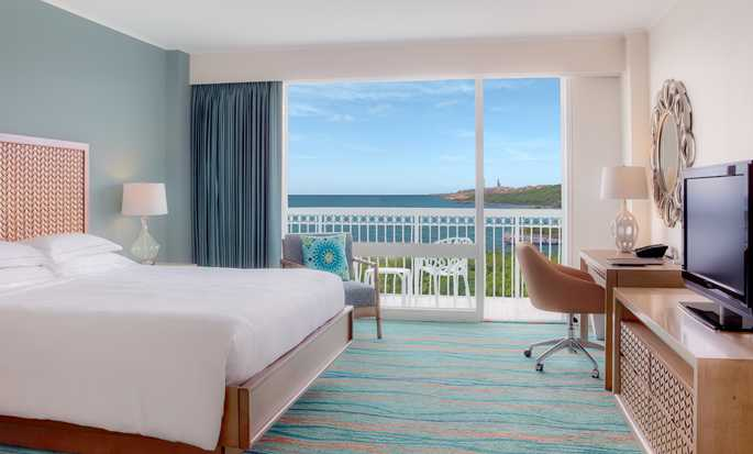 Hilton Curacao Hotel, Curacao – King-Size-Bett, Zimmer mit Meerblick
