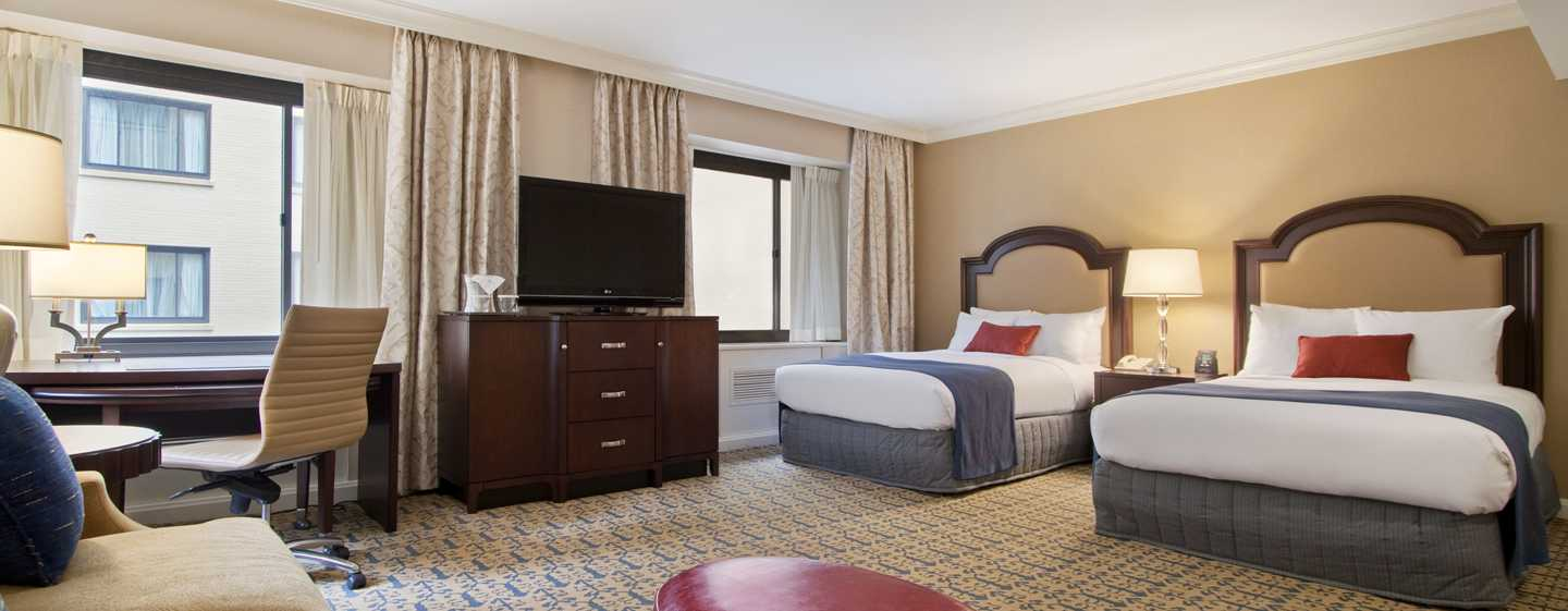Capital Hilton Hotel, Washington D.C., USA – Zwei Doppelbetten