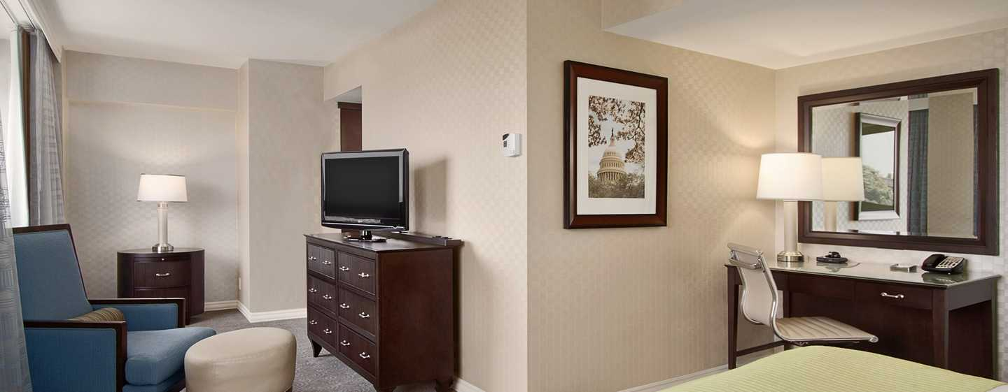 Hotel Hilton Washington, EUA - Quarto Alcove King