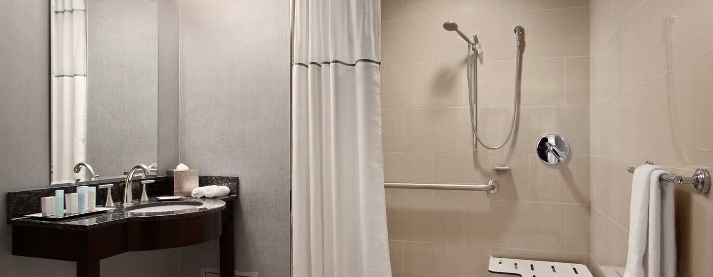 Hilton Washington Hotel, USA – Barrierefreies Badezimmer