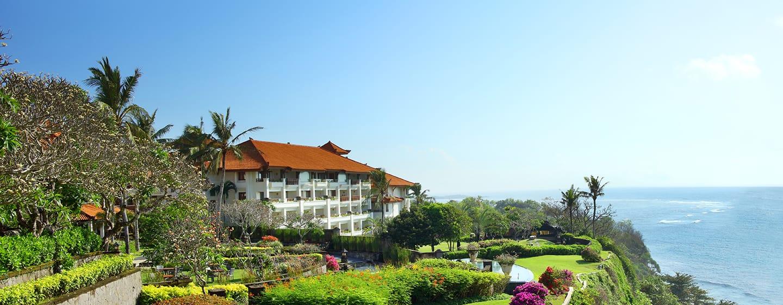 Hilton Bali Resort ประเทศอินโดนีเซีย - สวนสวยบนหน้าผาสูง