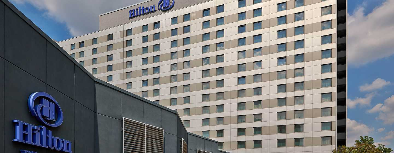 Hilton Dusseldorf hotel, Duitsland - Buitenkant