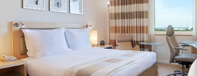 Hôtel Hilton Dusseldorf, Allemagne - Chambre avec grand lit