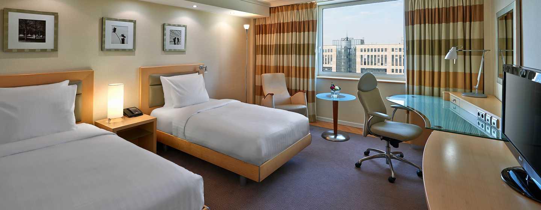 Hôtel Hilton Dusseldorf, Allemagne - Chambre avec lits jumeaux