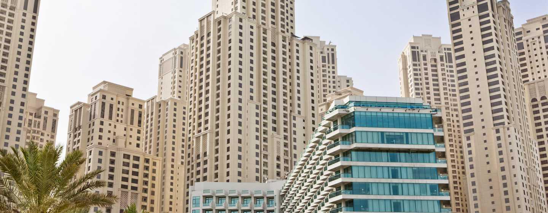 Hilton Dubai Jumeirah Hotel, Dubai, UAE – Hotellet utvendig