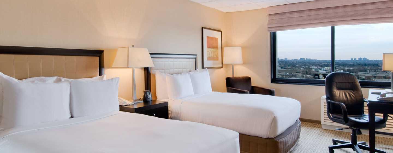 Hilton Hasbrouck Heights/Meadowlands Hotel, New Jersey - Quarto com duas camas de casal