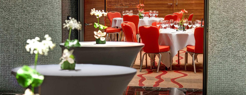 Hotel Hilton Frankfurt Airport, Alemania - Salón de fiestas Globe y vestíbulo