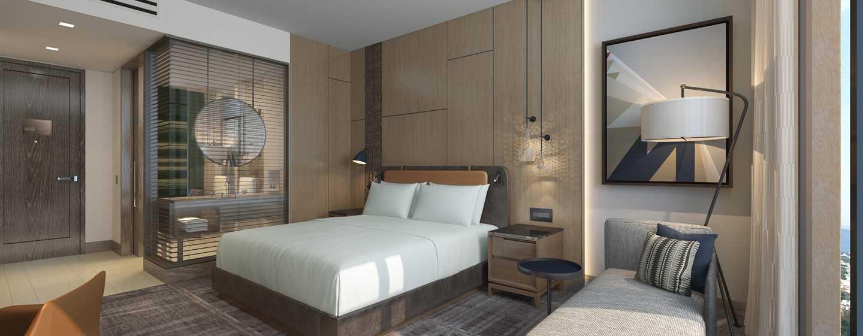 Hotel Hilton Guadalajara Midtown, México - Dormitorio con cama King