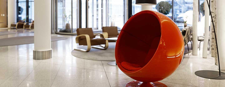 Hilton Helsinki Airport, Finland - Hilton Helsinki Airport lobby