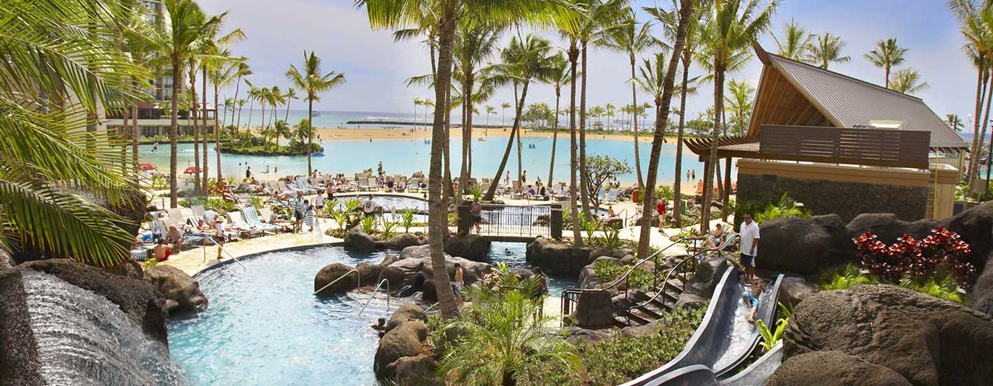 Hilton Hawaiian Village Waikiki Beach Resort Hotel, Honolulu, Hawaii, USA – Paradise Pool