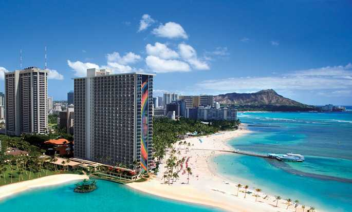 Hilton Hawaiian Village Waikiki Beach Resort Hotel, VS - Buitenkant hotel