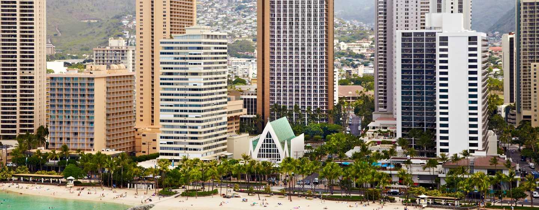 Hôtel Hilton Waikiki Beach, Hawaii, États-Unis - Extérieur