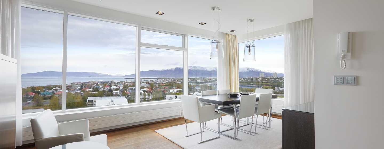 Hilton Reykjavik Nordica -hotelli, Islanti – President-sviitti, olohuone