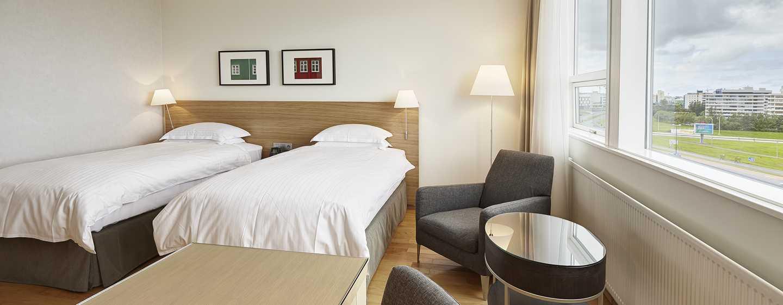 Hilton Reykjavik Nordica -hotelli, Islanti – kaksi erillistä vuodetta