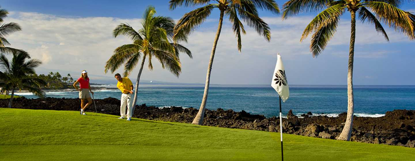 Hilton Waikoloa Village Hotel, Hawaii, USA – Golfbanor på Waikoloa Beach